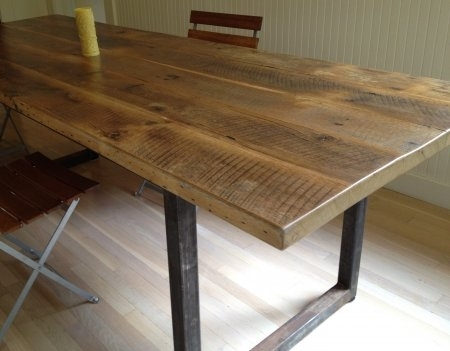 Outstanding 8 Good Reclaimed Wood Farmhouse Dining Table Throughout Oval Reclaimed Wood Dining Tables (View 13 of 25)