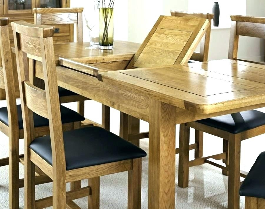 Outstanding Exceptional Solid Oak Extending Dining Table And 6 Pertaining To Extended Dining Tables And Chairs (View 11 of 25)