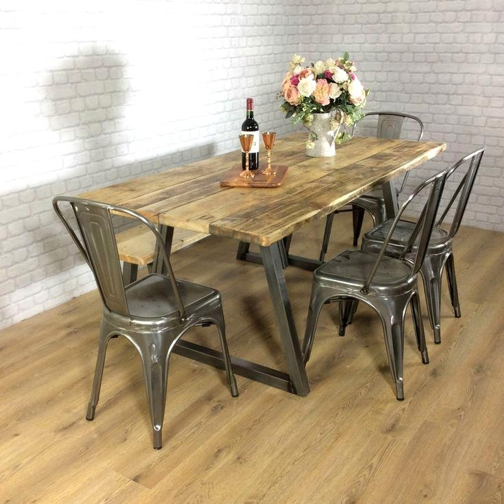 Outstanding Industrial Style Dining Table Wood Awesome Industrial In Industrial Style Dining Tables (Photo 24 of 25)