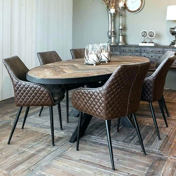 Oval Dining Room Sets – Modern Computer Desk Cosmeticdentist Inside Parquet 6 Piece Dining Sets (Photo 25 of 25)