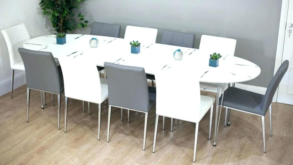 Oval Dining Room Table Seats 10 Large Size Of Dining Room Table Sets Intended For Extending Dining Table With 10 Seats (Image 20 of 25)