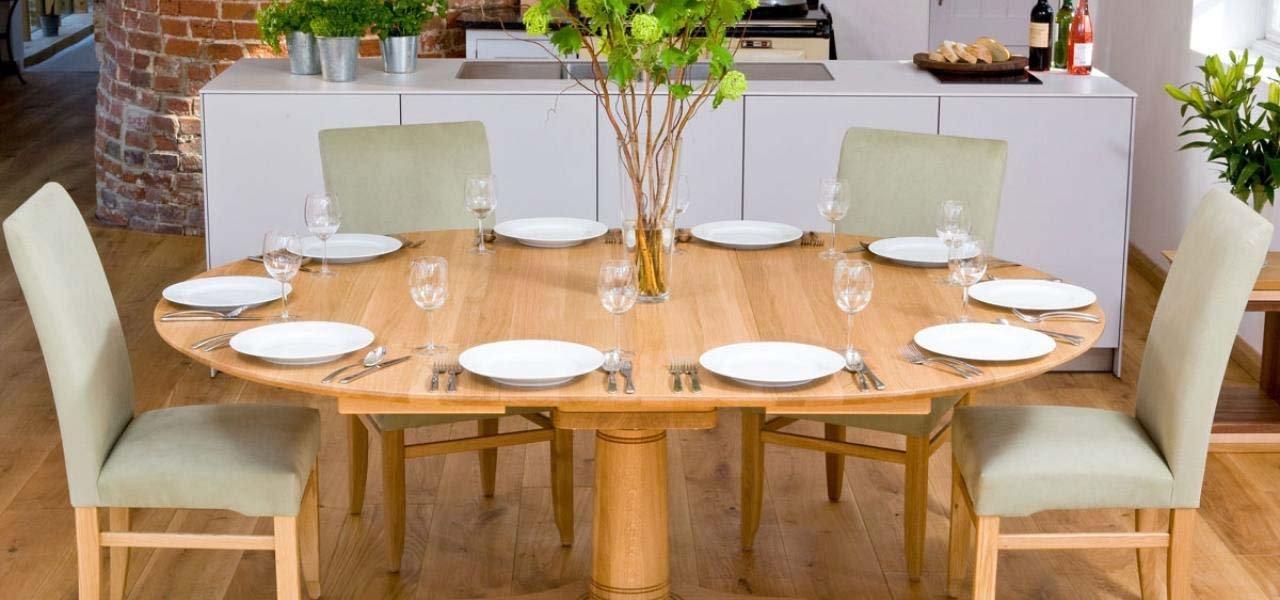Oval Dining Table | Pedestal Walnut & Oak Dining Tables intended for Oval Oak Dining Tables And Chairs