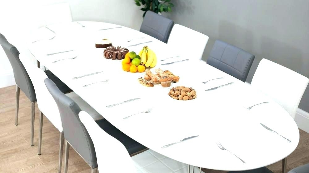 Oval Extendable Dining Table – Trendviral regarding White Oval Extending Dining Tables