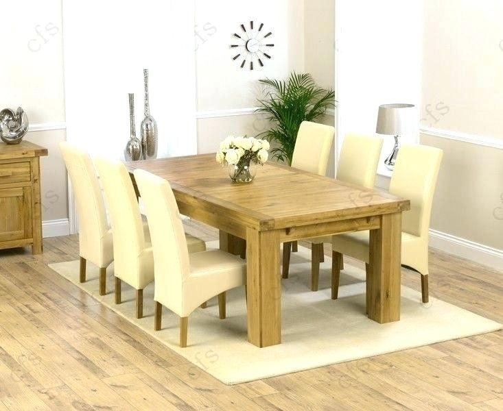 Oval Extending Dining Table And Chairs Oak Dining Table Extending pertaining to Chunky Solid Oak Dining Tables And 6 Chairs