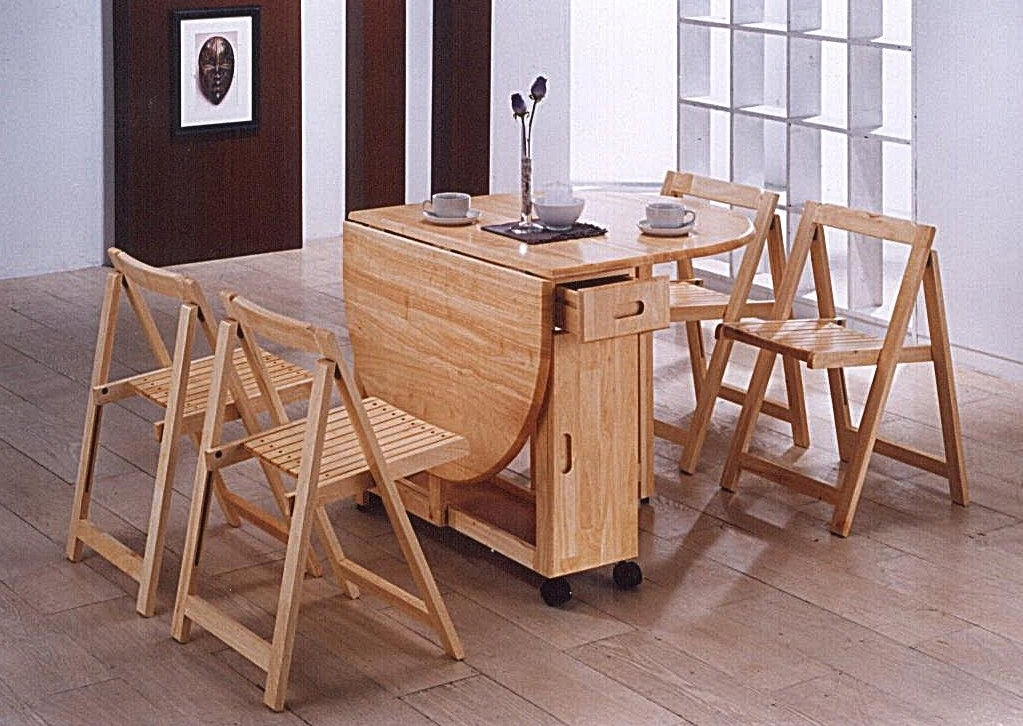 Oval Folding Dining Room Set Table And 4 Chairs Dining Table Design For Oval Folding Dining Tables (Photo 10 of 25)