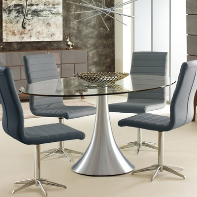 Oval Glass 6 Seater Dining Table – Dwell Pertaining To Glass Dining Tables (View 3 of 25)