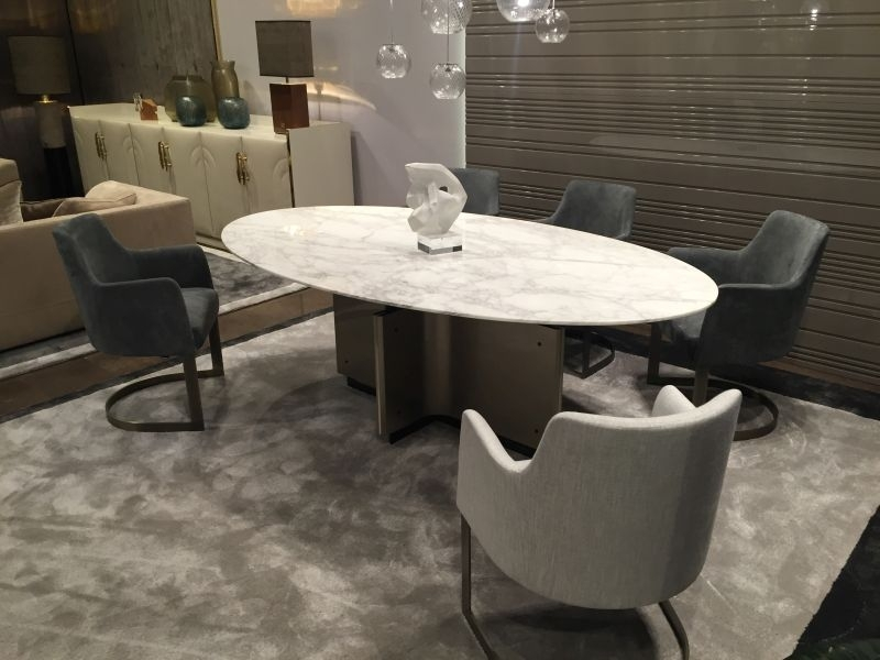 Oval Marble Dining Table Elegant Throughout 7 Lofihistyle Com In In Oval Dining Tables For Sale (Image 20 of 25)