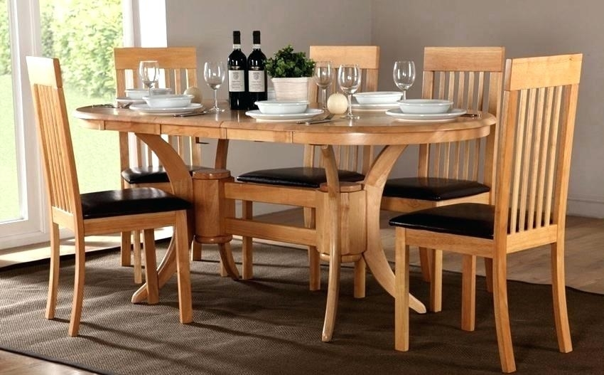 Oval Oak Dining Table Captivating Oak Dining Table Set Solid Oak Inside Oval Oak Dining Tables And Chairs (Photo 21 of 25)