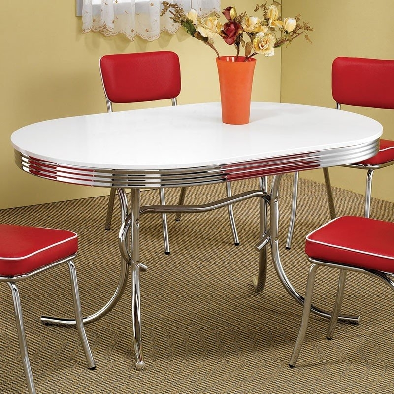 Oval Retro Dining Table – Dining Room And Kitchen Furniture – Dining For Retro Dining Tables (Photo 12 of 25)