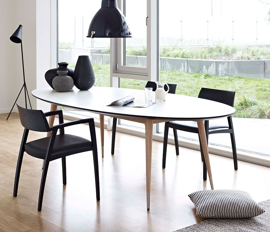 Oval Retro Dining Table – Dm9900 – Wharfside Danish Furniture Regarding Retro Extending Dining Tables (Image 18 of 25)