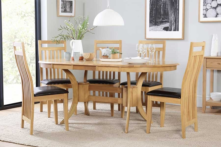 Oval Table & Chairs - Oval Dining Sets | Furniture Choice inside Dining Room Tables And Chairs