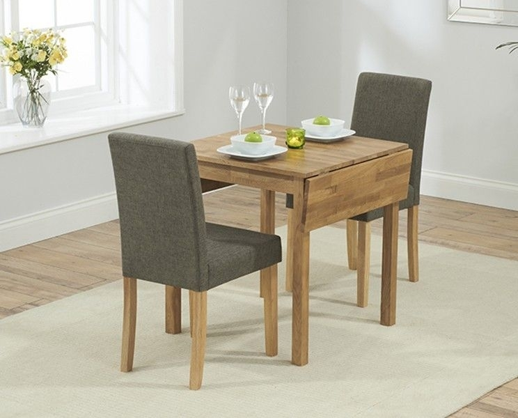 Oxford 70Cm Solid Oak Extending Dining Table With Brown Mia Fabric for Small Extendable Dining Table Sets