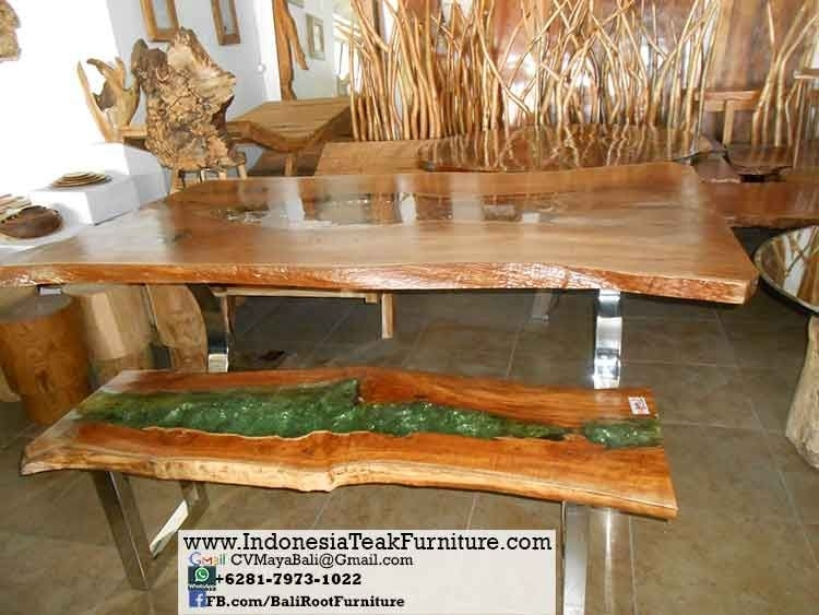 P8Table Large Wood Dining Table Chair Sets Suar Wood Table Bali Throughout Bali Dining Sets (View 4 of 25)