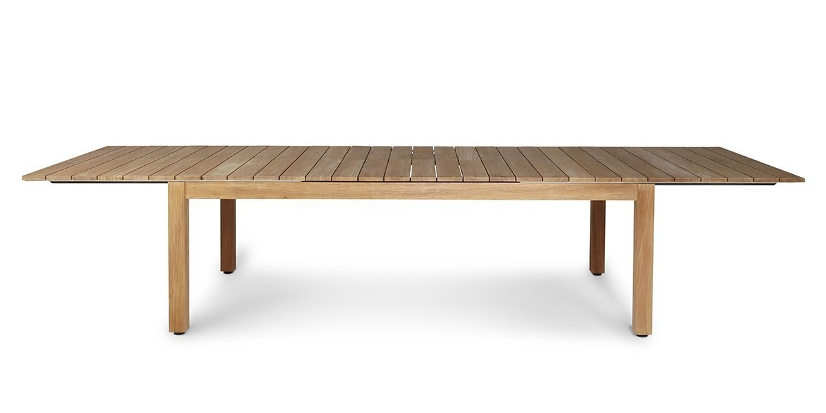 Pacific Extendable Dining Table Teak Frame – Harbour Outdoor Inside Outdoor Extendable Dining Tables (Image 21 of 25)