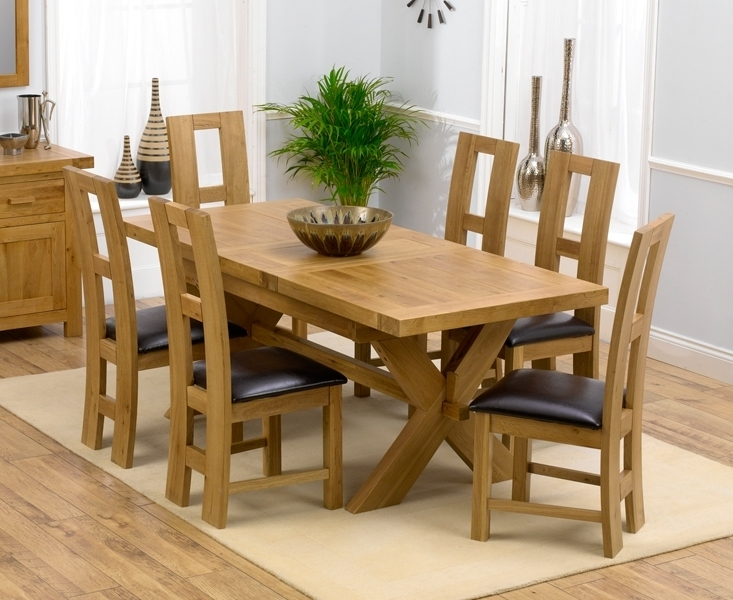 Padova Solid Oak 160Cm Extending Dining Set With 4 Rogo Brown Chairs In Extendable Oak Dining Tables And Chairs (View 17 of 25)