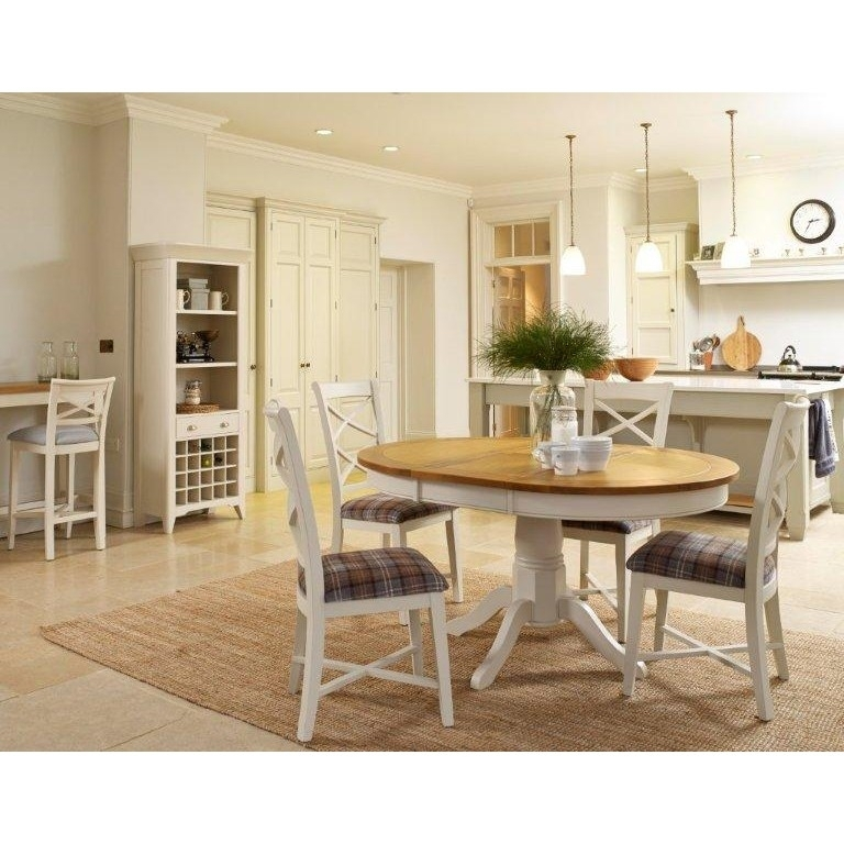 Padstow Extending Oak Dining Table & Chairs Ex Display – The Place Throughout Oak Dining Sets (Image 15 of 25)