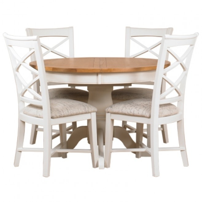 Padstow Round Extending Dining Table – Off White – Style Our Home With Regard To White Round Extending Dining Tables (Image 15 of 25)
