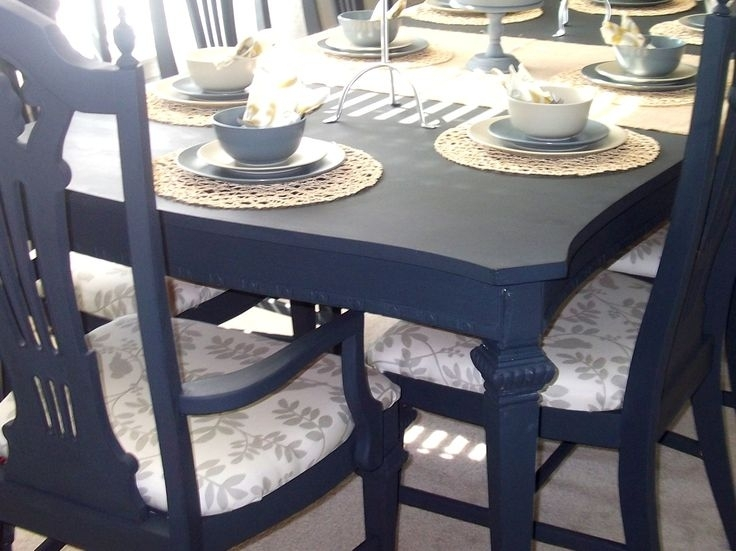 Paint Dining Room Table Best Ideas For Painting Dining Room Table Throughout Painted Dining Tables (View 18 of 25)
