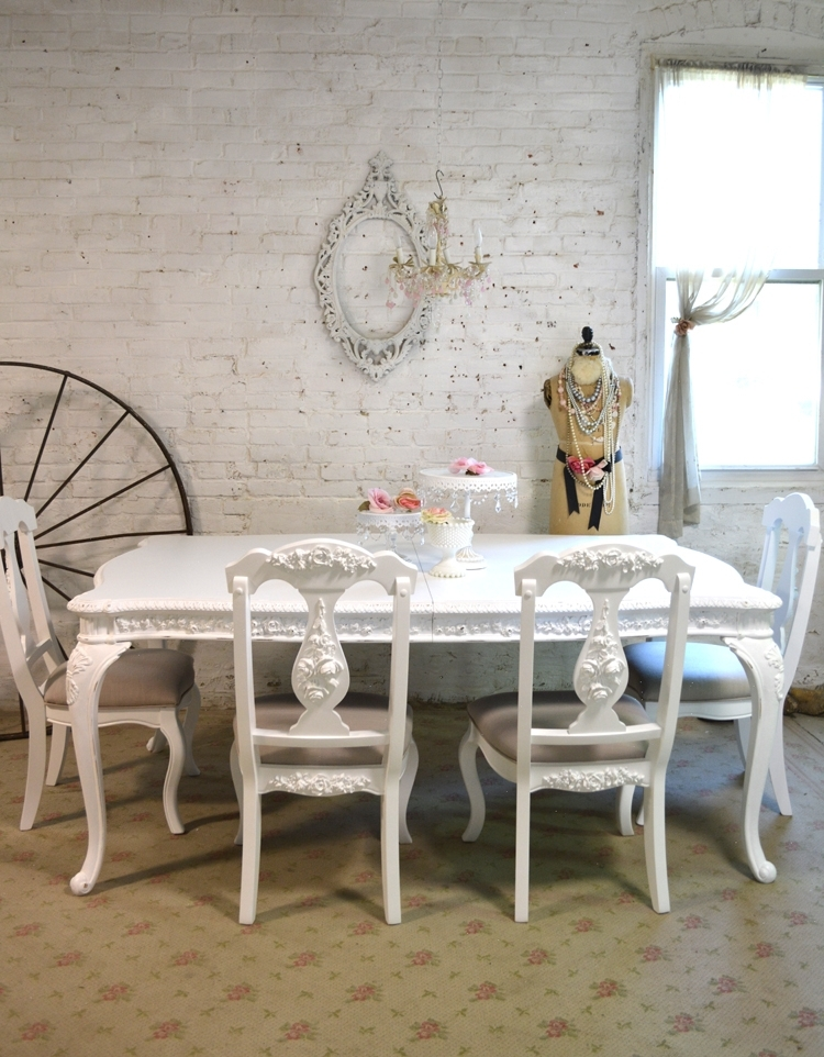 Painted Cottage Dining Table Intended For French Chic Dining Tables (Image 18 of 25)