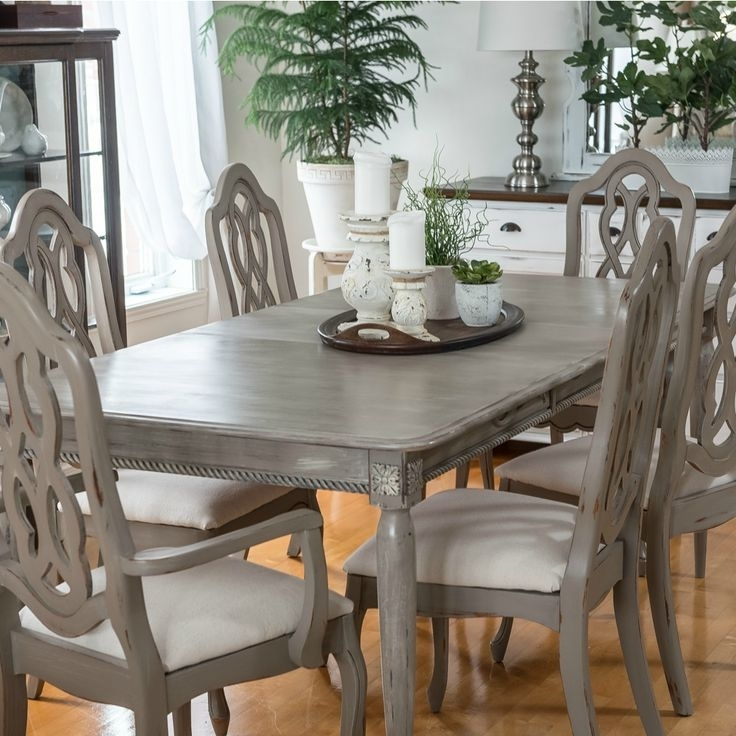 Painted Dining Room Chairs Ideas Chairs Seating Tan Leather Dining Throughout Painted Dining Tables (Image 14 of 25)