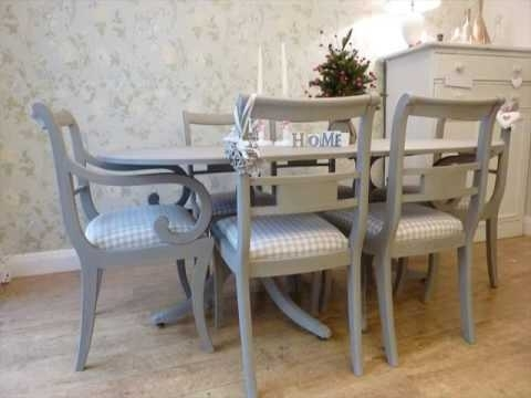 Painted Dining Table And Chairs Design Uk - Youtube with regard to Painted Dining Tables