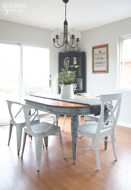Painted Dining Table  Finally! – The Golden Sycamore Inside Painted Dining Tables (Image 16 of 25)