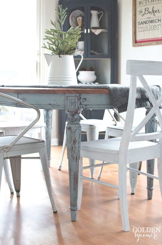 Painted Dining Table  Finally! – The Golden Sycamore With Painted Dining Tables (Image 17 of 25)