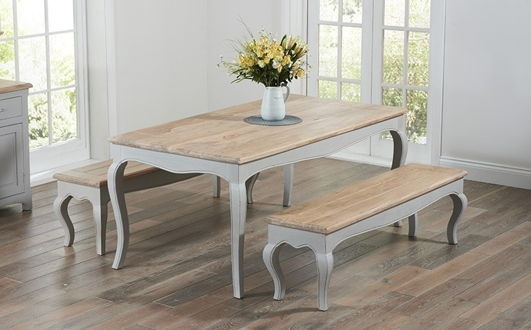 Painted Dining Table Sets   Great Furniture Trading Company   The For Painted Dining Tables (Image 20 of 25)
