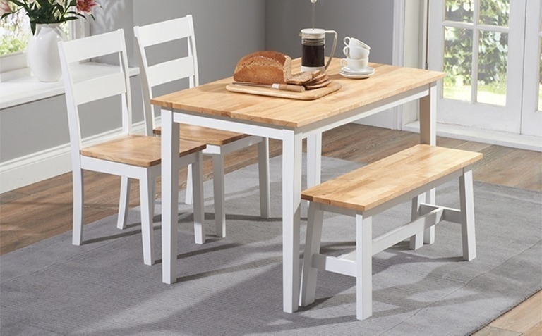Painted Dining Table Sets | Great Furniture Trading Company | The With Regard To White Dining Tables Sets (View 22 of 25)
