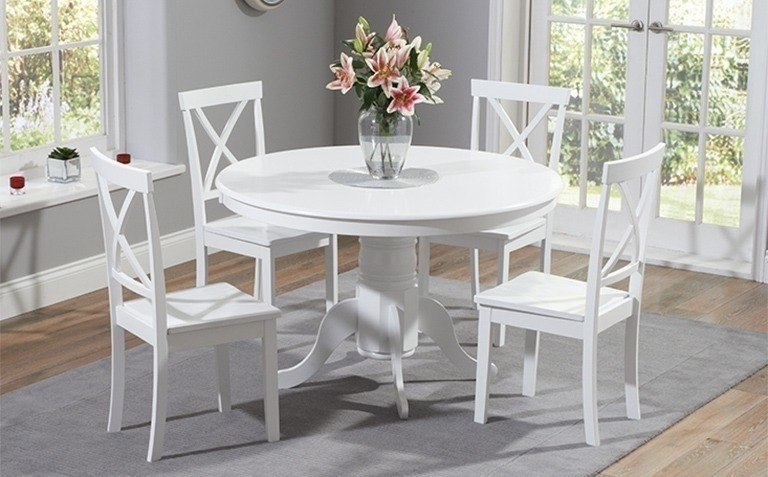 Painted Dining Table Sets | Great Furniture Trading Company | The With Regard To White Dining Tables Sets (View 5 of 25)