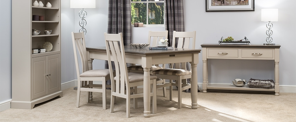 Painted Dining Tables & Chairs | Painted Dining Furniture Pertaining To Ivory Painted Dining Tables (View 11 of 25)