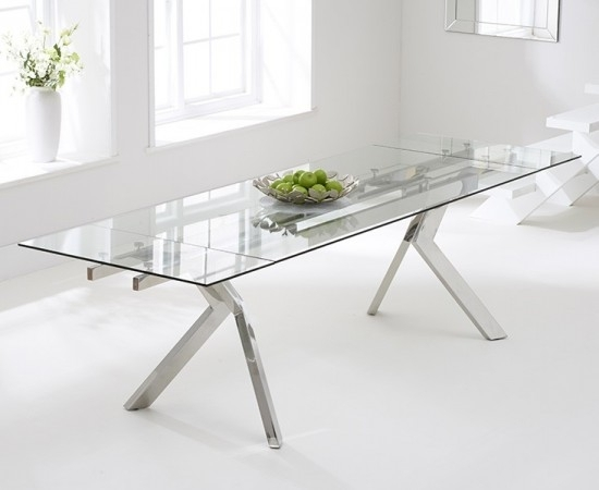 Palazzo 200 Cm Glass Extending Dining Table | Morale Home Furnishings Regarding Palazzo Rectangle Dining Tables (Image 14 of 25)
