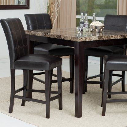 Palazzo 5 Piece Counter Height Dining Set | Hayneedle | Stool In Palazzo Rectangle Dining Tables (View 7 of 25)