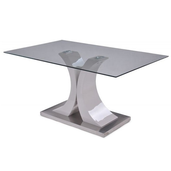 Palazzo Modern Glass Dining Table Rectangular In Clear In Palazzo Rectangle Dining Tables (Image 22 of 25)
