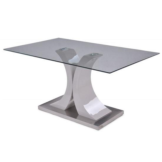 Palazzo Modern Glass Dining Table Rectangular In Clear In Palazzo Rectangle Dining Tables (View 4 of 25)