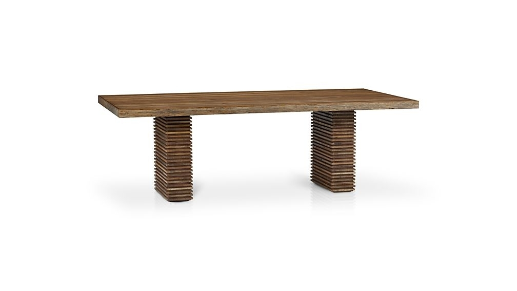 Paloma Ii Reclaimed Wood Dining Table + Reviews | Crate And Barrel With Regard To Benson Rectangle Dining Tables (Image 18 of 25)