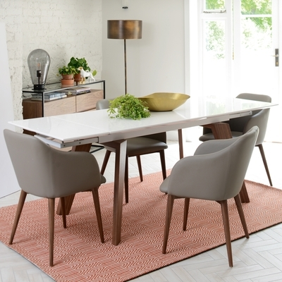 Panama Extending 6 8 Seater Dining Table White Gloss – Dwell Within White 8 Seater Dining Tables (View 24 of 25)