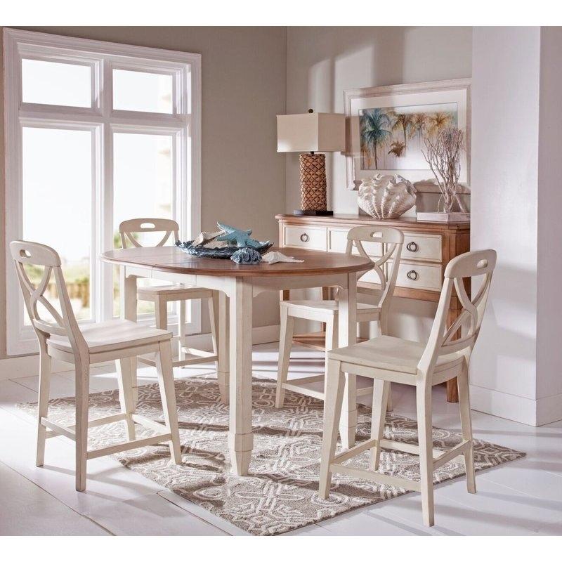 Panama Jack Millbrook 5 Piece Extendable Dining Table Set | Wayfair In Extendable Dining Table Sets (View 21 of 25)