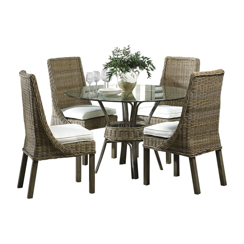 Panama Jack Sunroom Exuma 5 Piece Dining Set & Reviews | Wayfair Pertaining To Gavin 6 Piece Dining Sets With Clint Side Chairs (View 19 of 25)