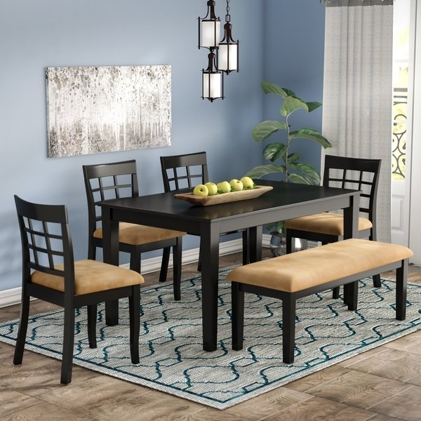 Paprika Wood Dining Set   Wayfair Throughout Candice Ii 7 Piece Extension Rectangular Dining Sets With Slat Back Side Chairs (Image 21 of 25)