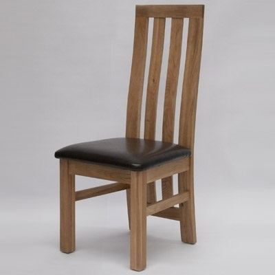 Paris Oak Dining Chair (Pair) – Robson Furniture Within Oak Dining Chairs (Image 18 of 25)