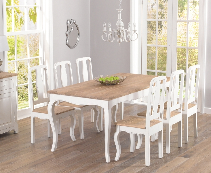 Parisian 175Cm Shabby Chic Dining Table And Chairs In Shabby Dining Tables And Chairs (Image 9 of 25)