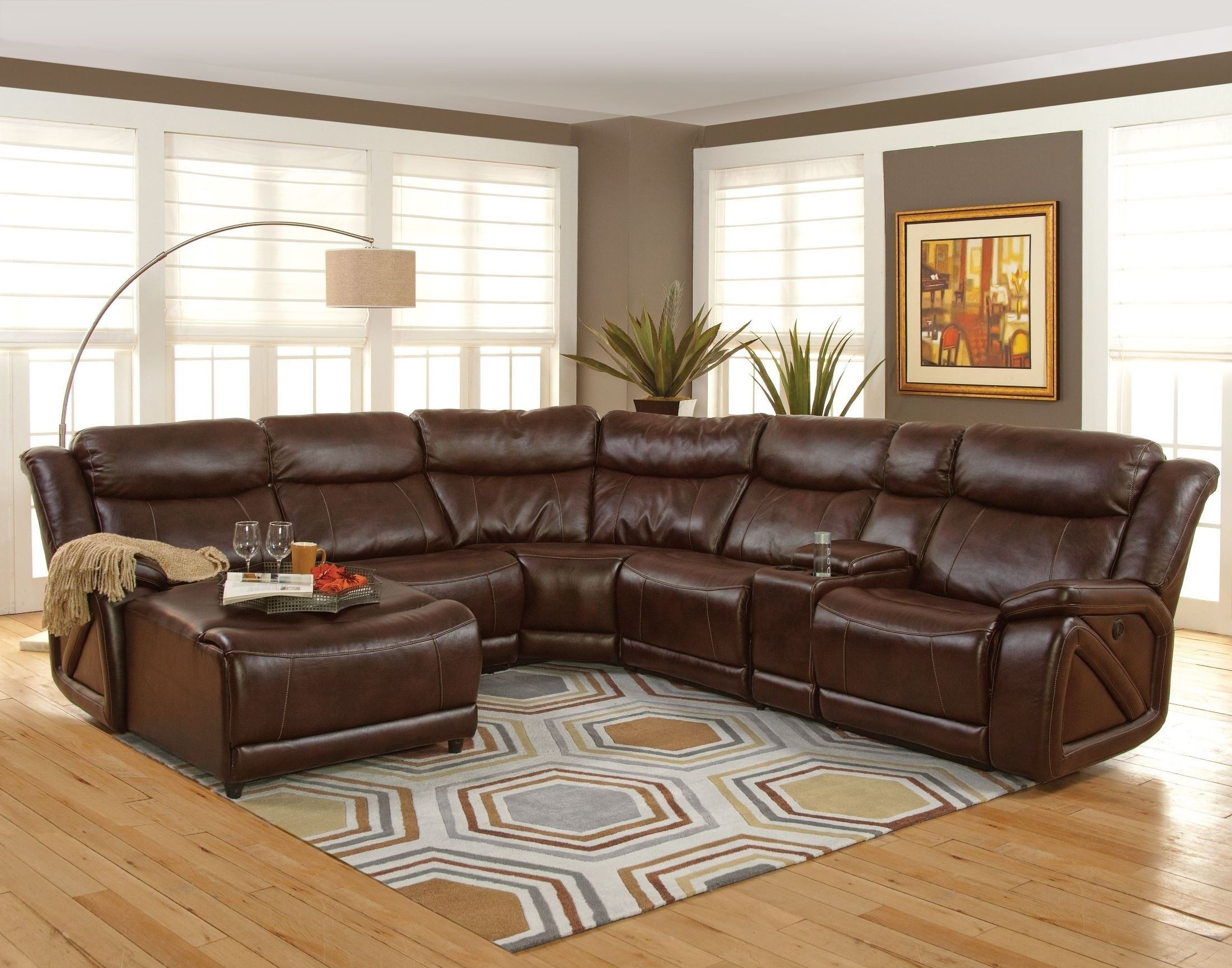 Park Place Premier Brown Laf Sectional From New Classics (20 225 17L For Turdur 2 Piece Sectionals With Raf Loveseat (Image 20 of 25)