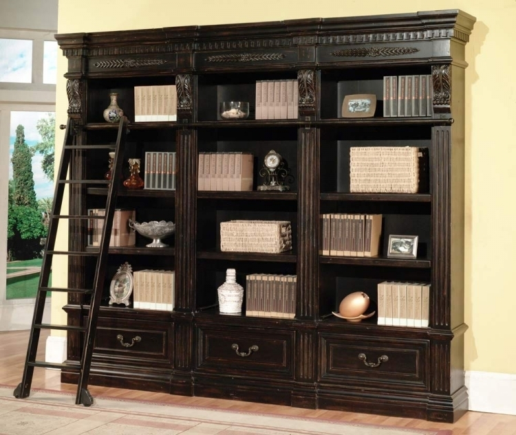 Parker House Grand Manor Palazzo 2 Piece Bookcase Ph-Gpal9030-2 At pertaining to Palazzo 3 Piece Dining Table Sets