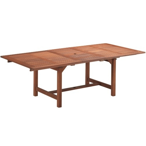 Parklands Timber Outdoor Extendable Dining Table | Temple & Webster With Outdoor Extendable Dining Tables (View 13 of 25)