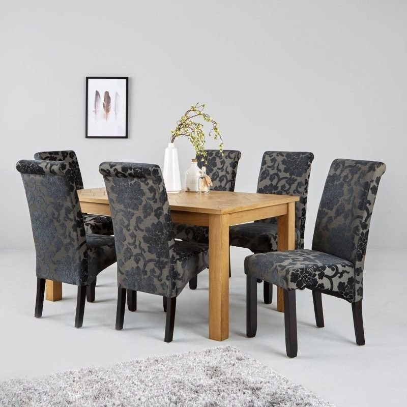 Parquet 150 Cm Solid Oak And Oak Veneer Dining Table – The Furniture Co With Parquet 6 Piece Dining Sets (View 6 of 25)