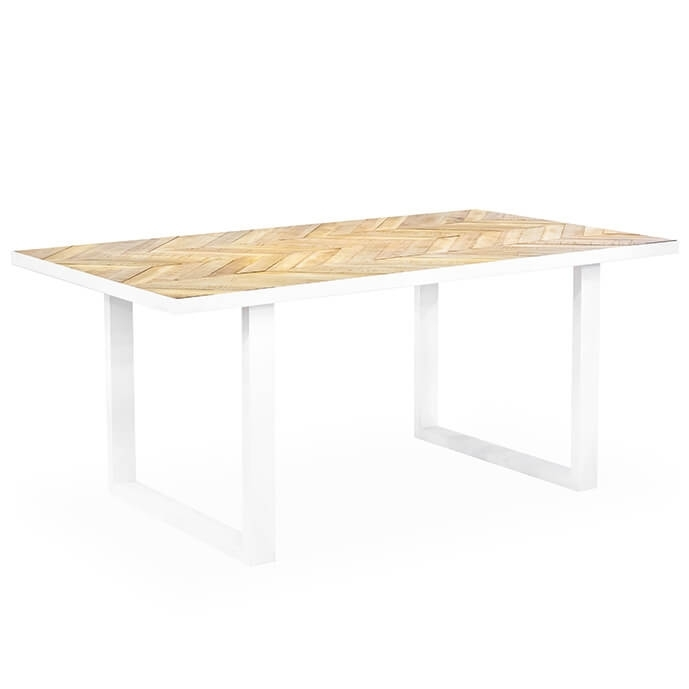 Parquet Modern Rectangular Dining Table Intended For Parquet Dining Tables (Image 13 of 25)