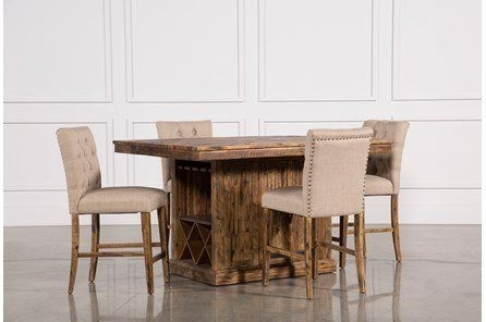Partridge 5 Piece Extension Counter Set | Decor | Pinterest Pertaining To Jaxon Grey 5 Piece Extension Counter Sets With Fabric Stools (Image 19 of 25)