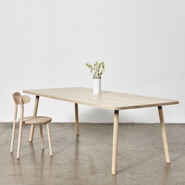 Partridge Ash Timber Dining Table | Rectangle | Powder Coat Brackets Within Partridge Dining Tables (View 3 of 25)