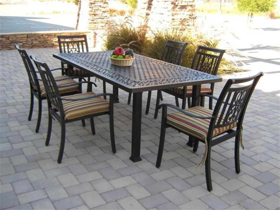 Patio: Astonishing Patio Table And Chair Sets Outdoor Dining Chair Within Outdoor Dining Table And Chairs Sets (Image 21 of 25)